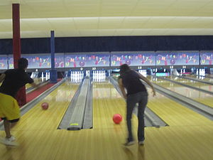 English: I took photo of bowlers in San Antoni...