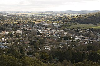 Bowral Town in New South Wales, Australia
