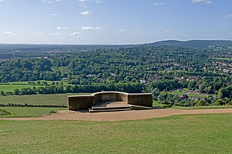 Box Hill, Surrey - Salomons Memorial viewpoint, looking south, in 2010