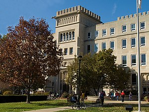 Bradley University - Bradley Hall is one of the first buildings constructed for the university and bears the name of the university's founder.
