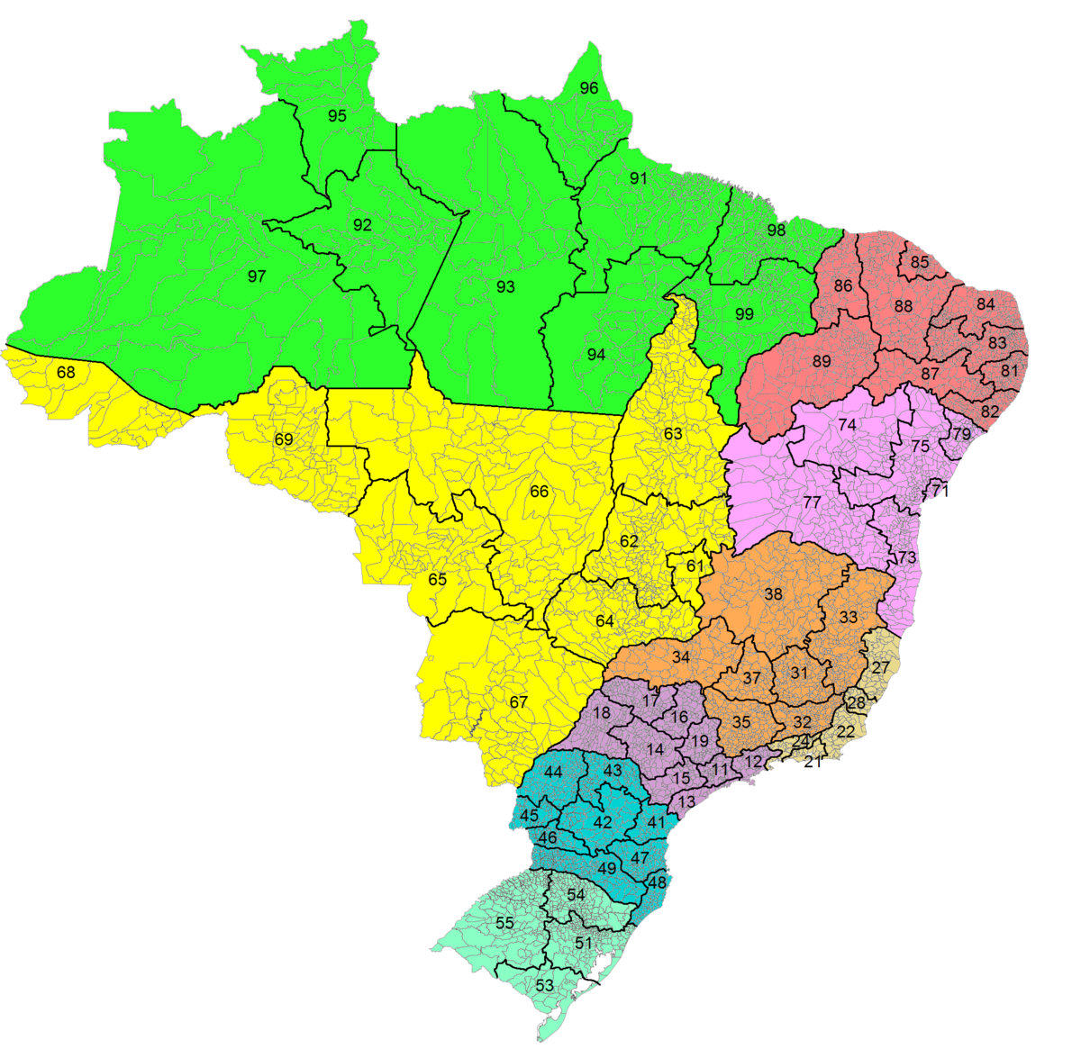 List of dialling codes in Brazil - Wikipedia