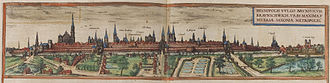 Braunschweig - Braunschweig in the 16th century, from the Civitates orbis terrarum by Georg Braun and Frans Hogenberg.