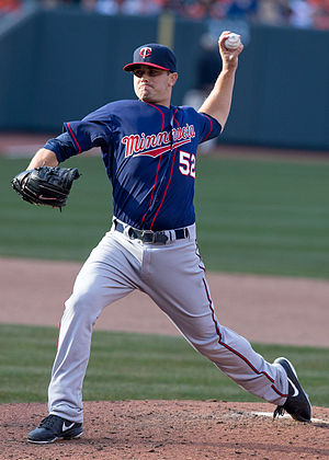 Brian Duensing - Duensing pitching for the Minnesota Twins in 2013
