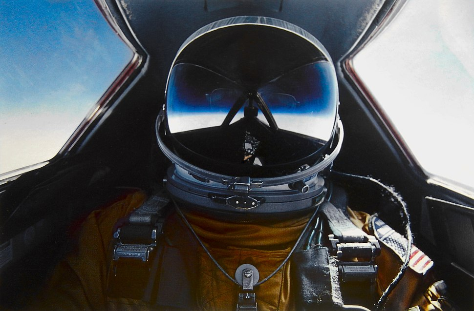 Brian Shul in the cockpit of the SR-71 Blackbird
