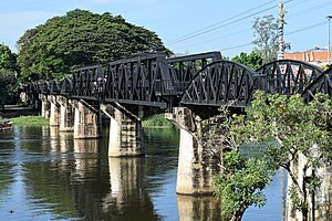 Burma Railway - The bridge over the Mae Klong River (Kwai Yai River)