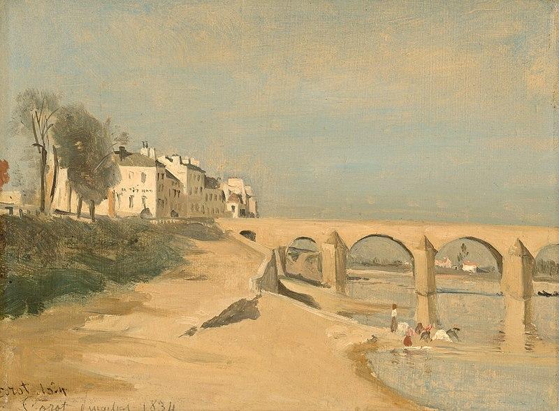 File:Bridge on the Saône River at Mâcon by Jean-Baptiste-Camille Corot, 1834.jpg
