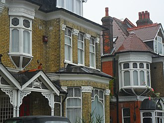 Gentrification - Ornate Edwardian architecture (seen here in Sutton, United Kingdom).