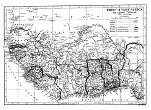 Upper Senegal and Niger - A map of Upper Senegal and Niger circa 1911 from the Encyclopædia Britannica