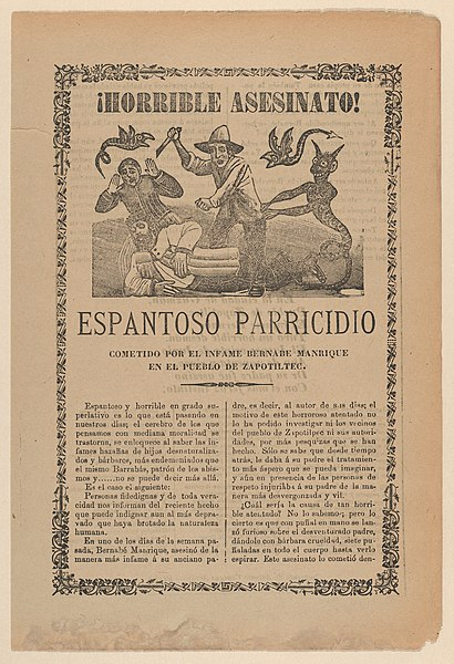 File:Broadsheet relating to the horrible murder committed by Bernabe Manrique in the town of Zapotiltec MET DP868030.jpg