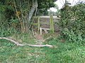 Broken stile near Nymans Farm - geograph.org.uk - 1505098.jpg