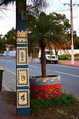 Brompton, Adelaide - painted Stobie pole 2.jpg