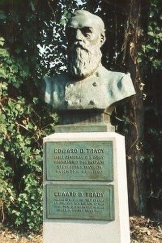 Edward D. Tracy - Bronze bust of Brig. Gen. Edward D. Tracy by Solon Borglum at Vicksburg National Military Park, 1913