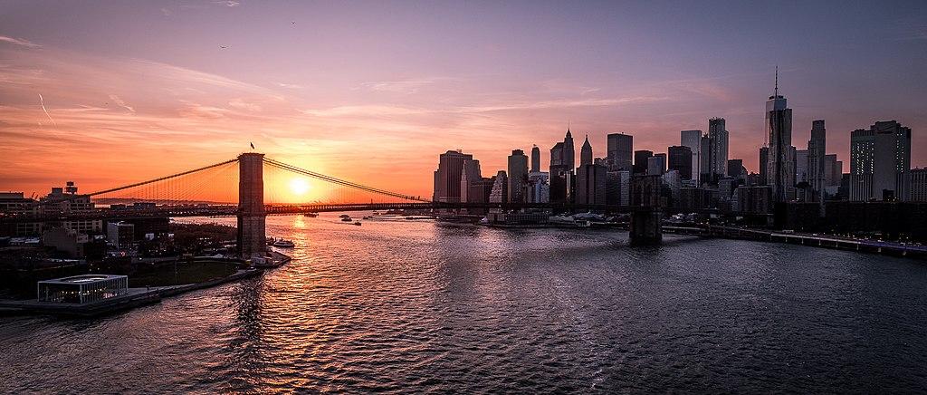 Brooklyn Bridge And Manhattan At Sunset New York Cityscape Photography (238415973)