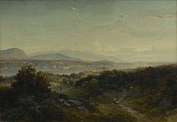 Johann Hermann Carmiencke: Landscape, Hyde Park, New York