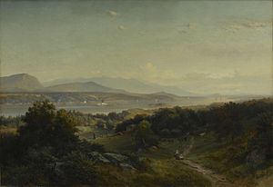 Johann Hermann Carmiencke - Landscape, Hyde Park, New York, ca. 1859, now at the Brooklyn Museum.