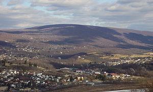 Brush Mountain (Blair County, Pennsylvania) -  Brush mountain looming over Hollidaysburg
