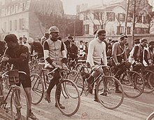 Riders at the 1907 Paris–Roubaix