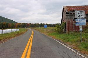 North Union Township, Schuylkill County, Pennsylvania - Buck Mountain Road at the Columbia/Schuylkill County line