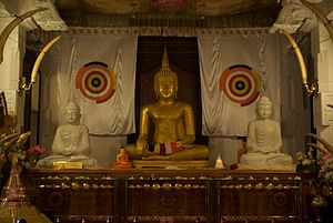 Buddha Statue, Temple of the Tooth Relic, Kand...