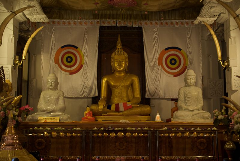 File:Buddha Statue, Temple of the Tooth Relic, Kandy, Sri Lanka.jpg