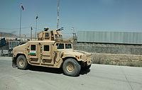 Bulgarian M1114 HMMWV in Kabul