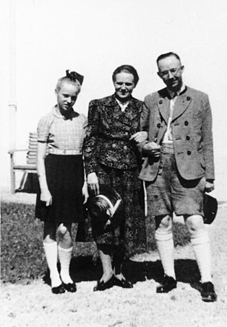 Margarete Himmler - Margarete (middle) with Heinrich and daughter Gudrun