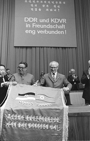 Germany–North Korea relations - Erich Honecker and Kim Il Sung in Berlin (1984)