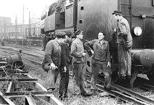 DR Class 65.10 - A class 65.10 locomotive in service of Leunawerke