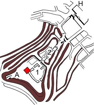 Komoro Castle - Plan of Komoro Castle
