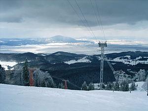 Burzenland - Same view in winter.