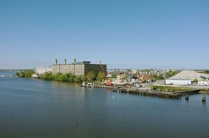 Buzzard Point - View of Buzzard Point and the Anacostia River.