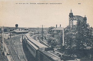 Buzzards Bay station - The station on a postcard from the 1940s