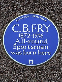 C.b. fry 1872 1956 all round sportsman was born here