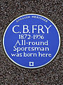 C.B. FRY 1872-1956 All-round Sportsman was born here.jpg