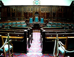 Committee room, designed 1901, in Halifax Town Hall