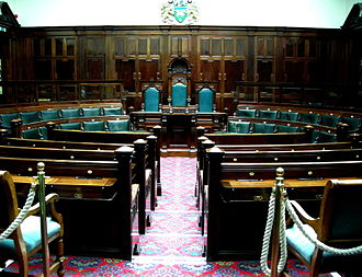 Committee - Committee room, designed 1901, in Halifax Town Hall