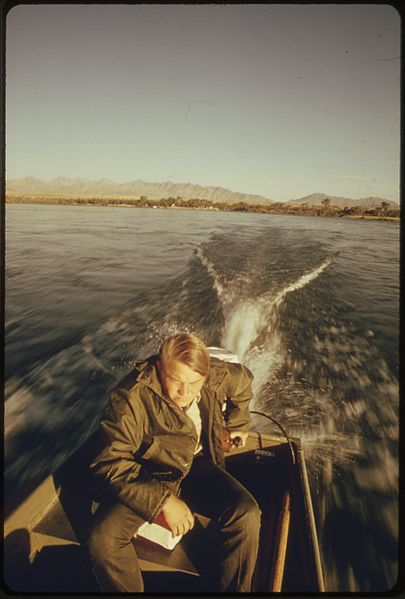 File california fish and game biologist on the colorado for Calif fish and game