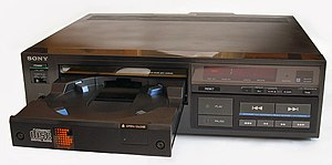 CD player - Sony CDP-101, from 1982, the first commercially released CD player for consumers.