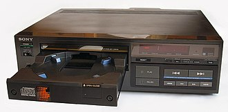 CD player - Sony CDP-101, from 1982, the first commercially released CD player for consumers