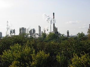 Bay of Gibraltar - CEPSA oil refinery at San Roque.