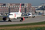 "CSA - Czech Airlines Airbus A319-112 OK-NEP ""90 years"" sticker (29687563570).jpg"