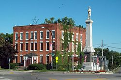 Caledonia Village Inn & Civil War Monument Caledonia NY Aug 10.JPG