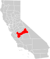 California county map (Fresno County highlighted).svg