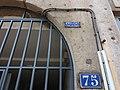 Caluire-et-Cuire - Grande Rue de Saint-Clair, panneau Eau et Gaz à tous les étages.jpg