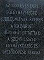 Calvary, plaque, 2018 Mezőkövesd.jpg
