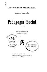 Raquel Camaña: Pedagogía social