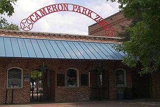 Cameron Park Zoo - Main entrance