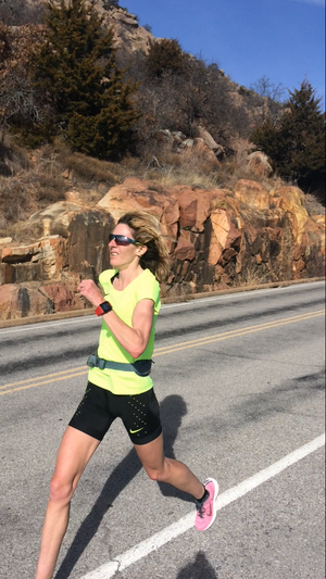 Camille Herron - Camille Herron training at Mt Scott in Oklahoma, Jan. 2017