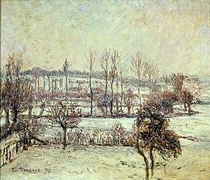 Eva Klabin Foundation - Camille Pissarro - Snow effects in Eragny (1895)