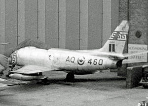Canadair Sabre - Canadair Sabre 4 of 414 Squadron RCAF in 1954